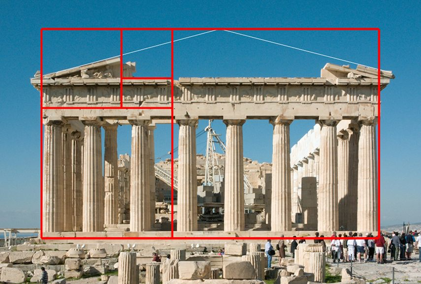 parthenon using golden ratio