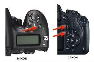 exposure compensation with nikon canon
