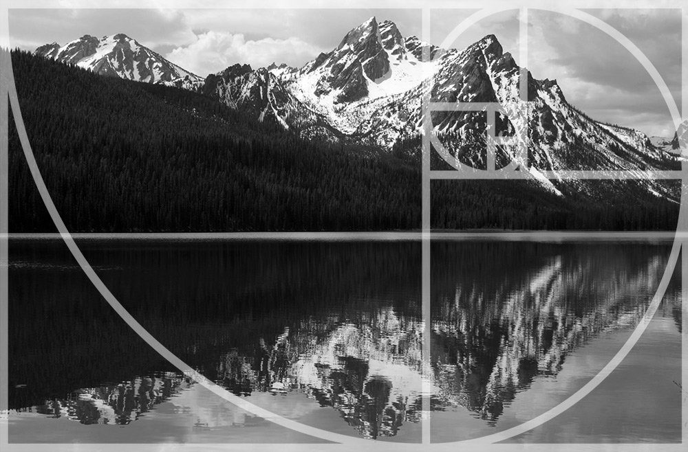ansel adams using the fibonacci spiral
