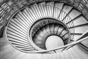 spiral staircase showing golden ratio