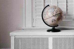 globe on a shelf