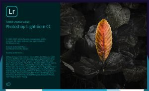 launch screen of the new Lightroom CC