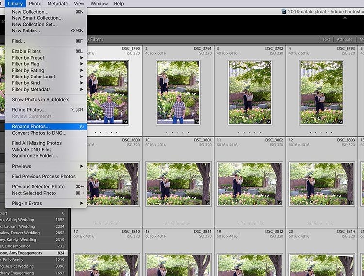 image showing the export dialog box in Lightroom