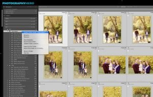 an image showing the create folder inside menu option in the folders panel in Lightroom