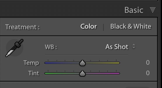 The white balance sliders found it in the basic panel of Lightroom classic cc