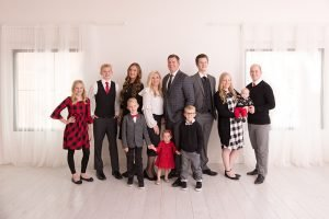 A family shot in the studio with a prime lens.